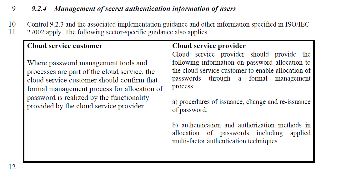 O/IEC 27017 Code of practice for information security controls