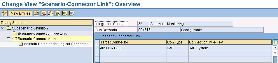 - Source Connector: this is the RFC-connection that is pointing at the Process Control system (created from SAP ERP to SAP PC); it also applies here: make sure you use the exact name of the