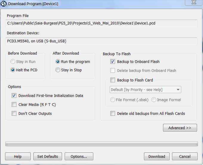 PG5 Projekt Manager: Build Changed Files / Rebuild All Files Build/