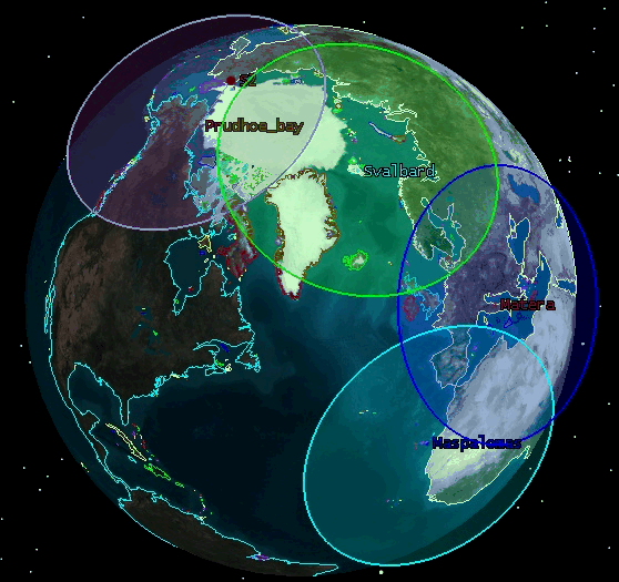 Datenverfügbarkeit Ground Segment 4 Core Ground Stations (CGS) Alaska Svalbard (Alaska, Svalbard, Matera, Maspalomas) 2
