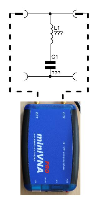 Example - Transmission mode We have a simple serial LC filter used as a band stop.