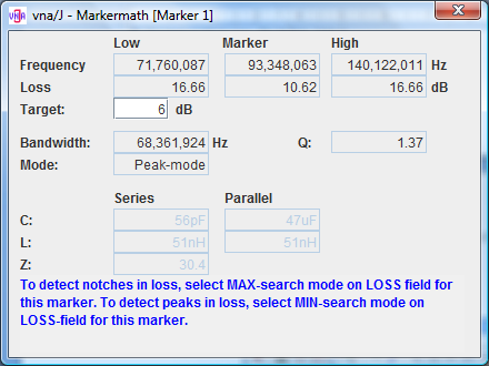 The main window should look like this: and the marker-math dialog