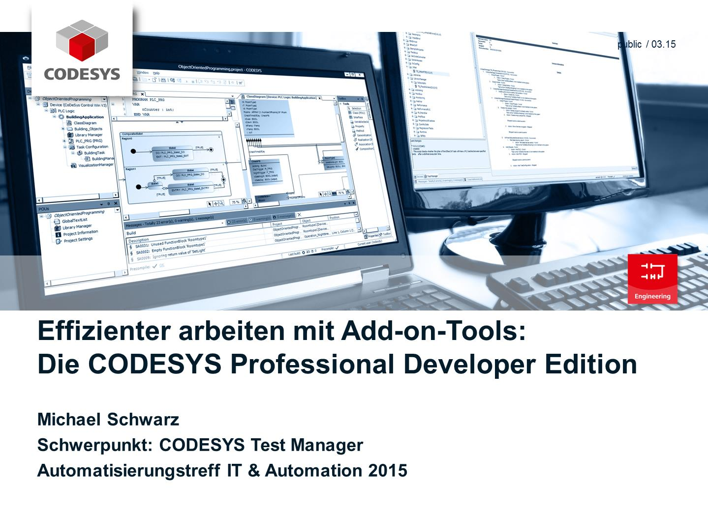 arbeiten mit Add-on-Tools: Die CODESYS