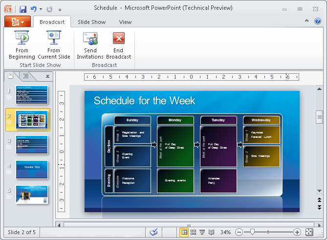 Share a Presentation with Others Instantly Using 'Shared Slide Show' in PowerPoint 2010 Work Together Challenge: It is cumbersome to set up a virtual presentation for people outside your own