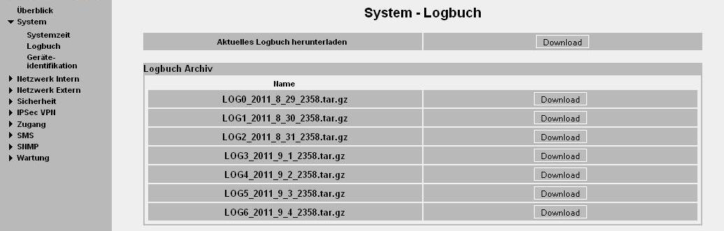 Logbuch, Update und Diagnose 9 Logbuch, Update und Diagnose 9.
