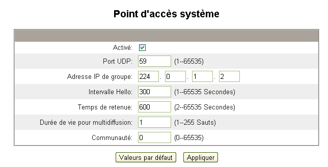 Passerelle Ethernet PowerLogic TM EGX300 63230-319-216B3_FR Configuration 03/2013 Action Résultat 4. Adresse IP de groupe Tapez l adresse IP du groupe.