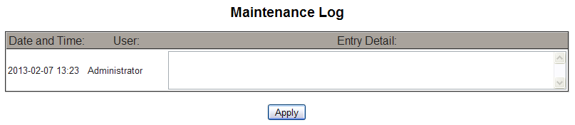PowerLogic TM Ethernet Gateway EGX300 63230-319-216B3 Maintenance 03/2013 MAINTENANCE The Maintenance Log provides you with a way to document maintenance performed on the EGX, the connected