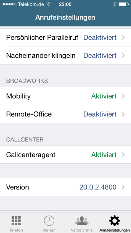 CTI-Tools BroadTouch MobileLink für ios und Android
