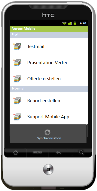 Kundenanforderung Benutzeroberfläche Hochschule Luzern 8 Benutzeroberfläche Zur Evaluation des Vertec Mobile App User Interface wird ein Wireframe Prototyp mit der Software Justinmind Prototyper [4]