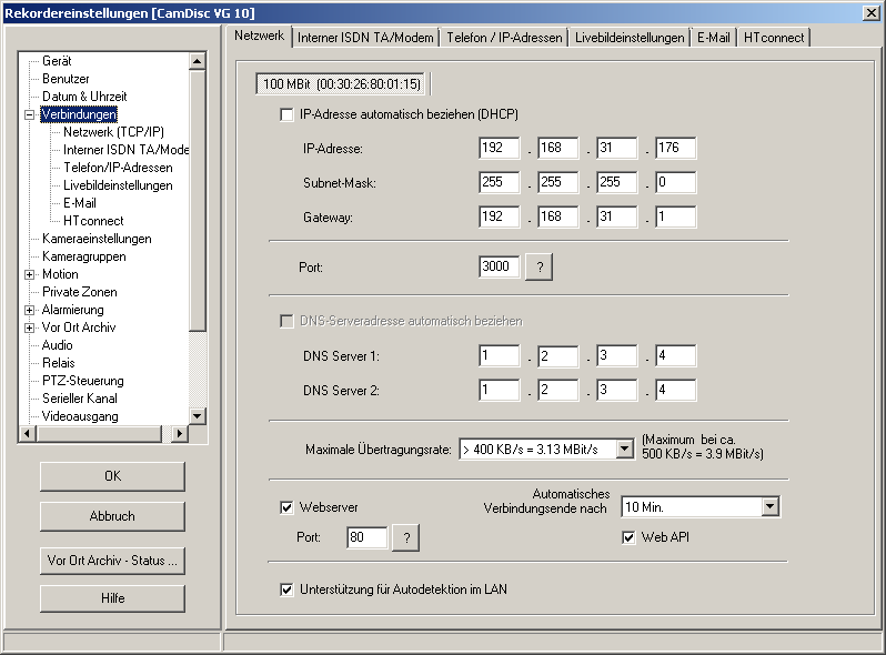 HeiTel by Xtralis CamControl LITE Software-Handbuch 7.