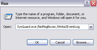 Product Facts Issue: May 2009 Product: SystemGuard Page 7 / 8 Windows Eventlog If you would prefer for all events, alerts and messages to be saved to the Windows W2000/XP/Vista Eventlog instead of