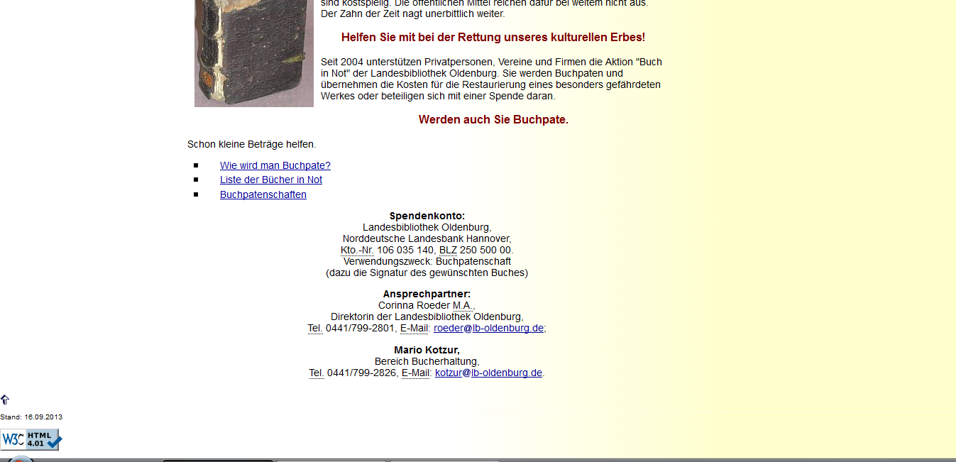"Abbildung 9: LBO-Website ""Informationen zur Aktion - Buch in Not"" 7."