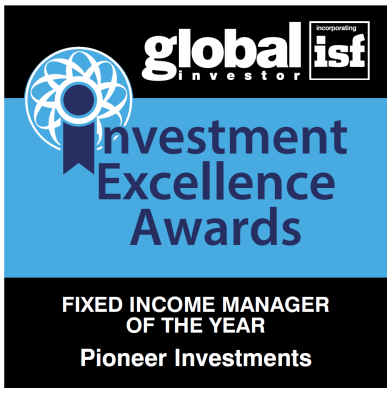 Global Investor Magazine kürt Pioneer Investments zum Fixed Income Manager of the Year Die unabhängige Jury des Global Investor Magazine zeichnete Pioneer Investments bei den Investment Excellence