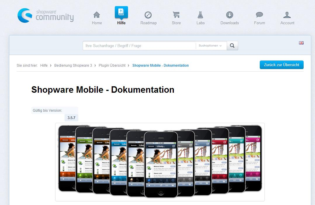 Shopsysteme bieten Mobile Templates an Quelle: http://www.magentocommerce.com/product/mobile, http://wiki.