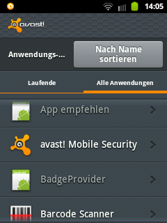 Mobile Internet Security Suite (Avast)