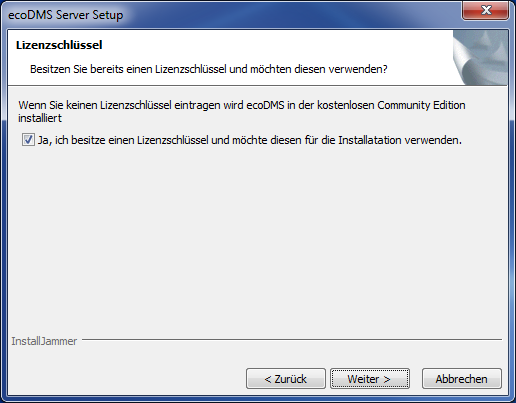 5. Windows Installationen Abbildung 5.53: ecodms Server: Installation ecodms Server & postgresql 15.