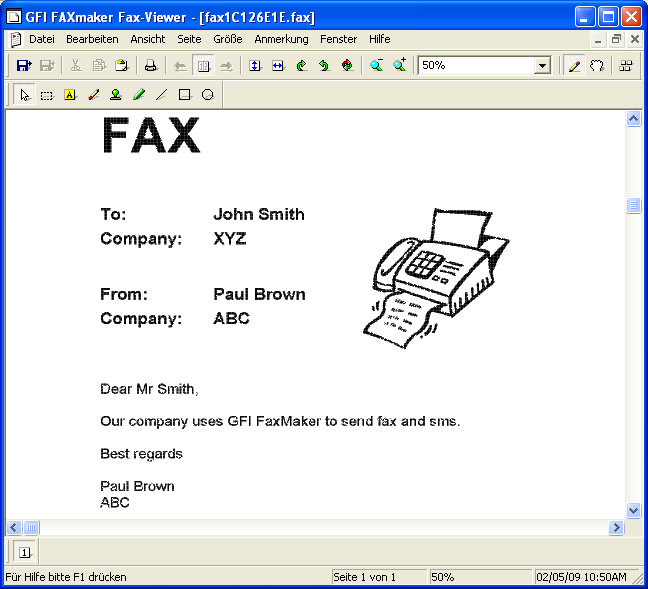 5 FaxMaker-Tools: Fax Viewer & Telefonbuch 5.