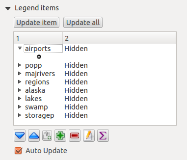 Abbildung 18.13: Legend Item properties Tab Abbildung 18.14: Legend Main properties Dialog Choose which Map item the current legend will refer to in the select list. Since QGIS 1.