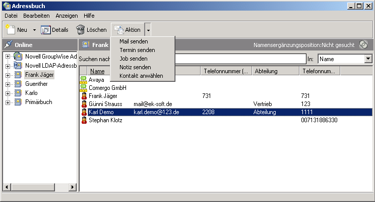 Integration in Groupwise (6.5 und ab 7.
