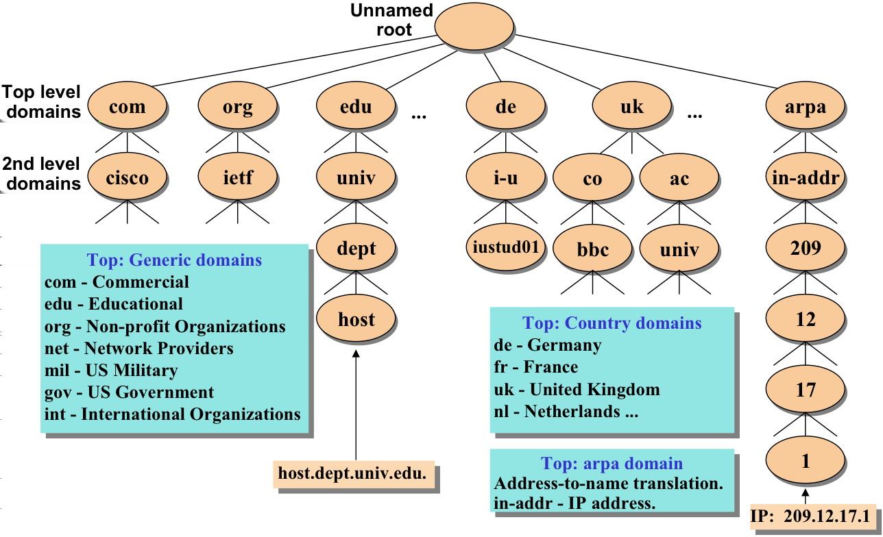 3. Domain Name System (DNS)