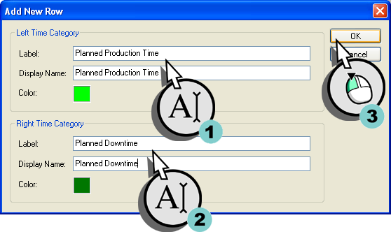 Defining the Time Model and the Shift Calendar 3.3 Creating a Calendar Figure 3-13 Add Row 2.