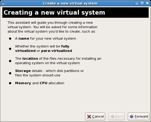 Virtual Machine Manager GUI >