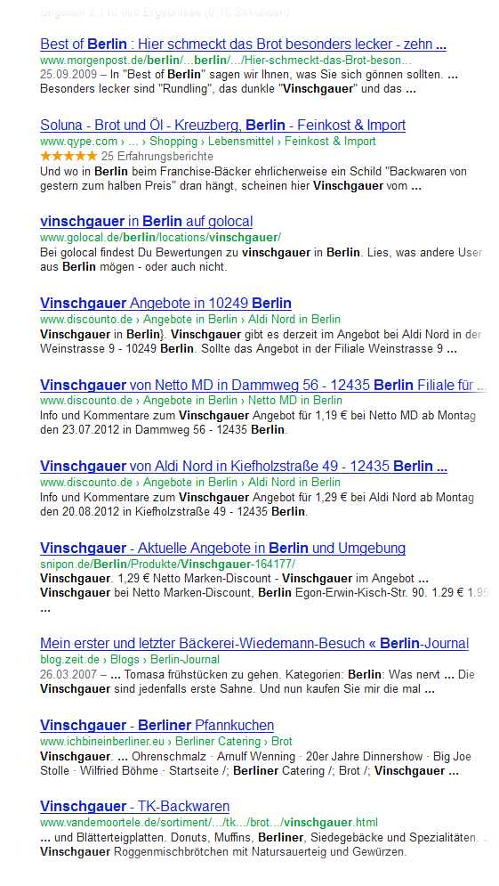 SERP Search Engine Result