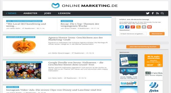 Factsheet OnlineMarketing.de www.onlinemarketing.de OnlineMarketing.de - Das führende deutschsprachige Fachportal OnlineMarketing.
