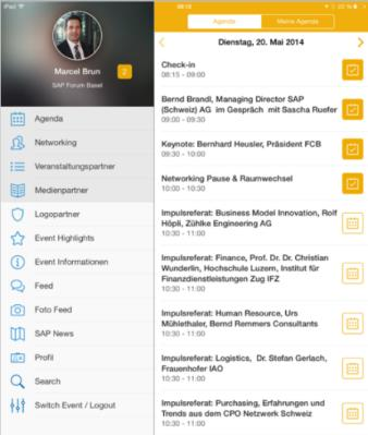 SAP Swiss Events App sapevent.