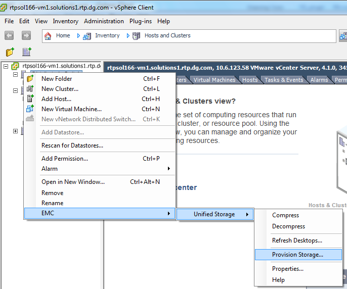Machinen (VNX File) Provisionierung geclonter VMs für VMware View Auffrischung der Desktops in VMware View Komprimieren virtueller Machinen (VNX File)
