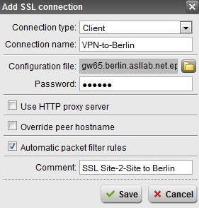 Konfiguration Client Auswahl Client / Server Laden der Konfigurationsdatei Optional: Eingabe Passwort Optional: Benutzung eines Proxy Servers, Authentifizierung am Proxy