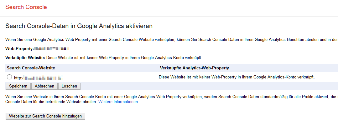 Search Console-Daten in