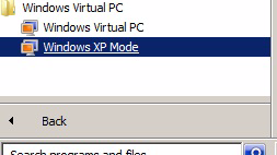 Install PC software 9. Right-click on Windows XP Mode. 10. Select the Settings menu item. The Windows XP Mode - Windows Virtual PC Settings window opens. 11.