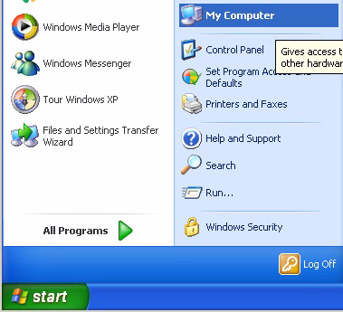 Install PC software 15. Start XP mode: Start All Programs Windows Virtual PC Windows XP Mode. The Windows XP Mode - Windows Virtual PC window opens. 16.