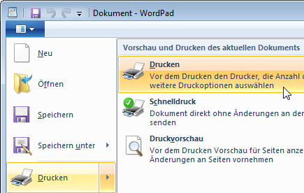 6 Mit Windows drucken Dokumente