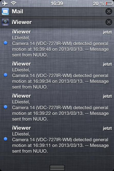 NUUO iviewer App Push Notification 16 Mit