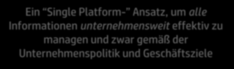 Informationskontrolle Meaning Based Information Governance Ein Single Platform- Ansatz, um alle