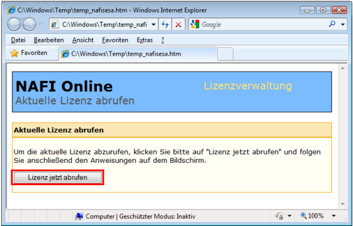 2.2.2.2. Online-Übertragung via Browser (manuell).