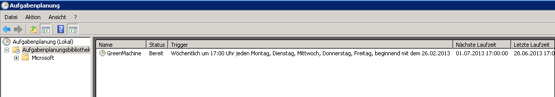Managed Monitoring Praxisbeispiel Windows Server Wie viele Scheduled Tasks laufen auf