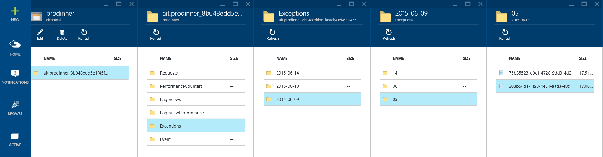 APPLICATION INSIGHTS ERWEITERTE