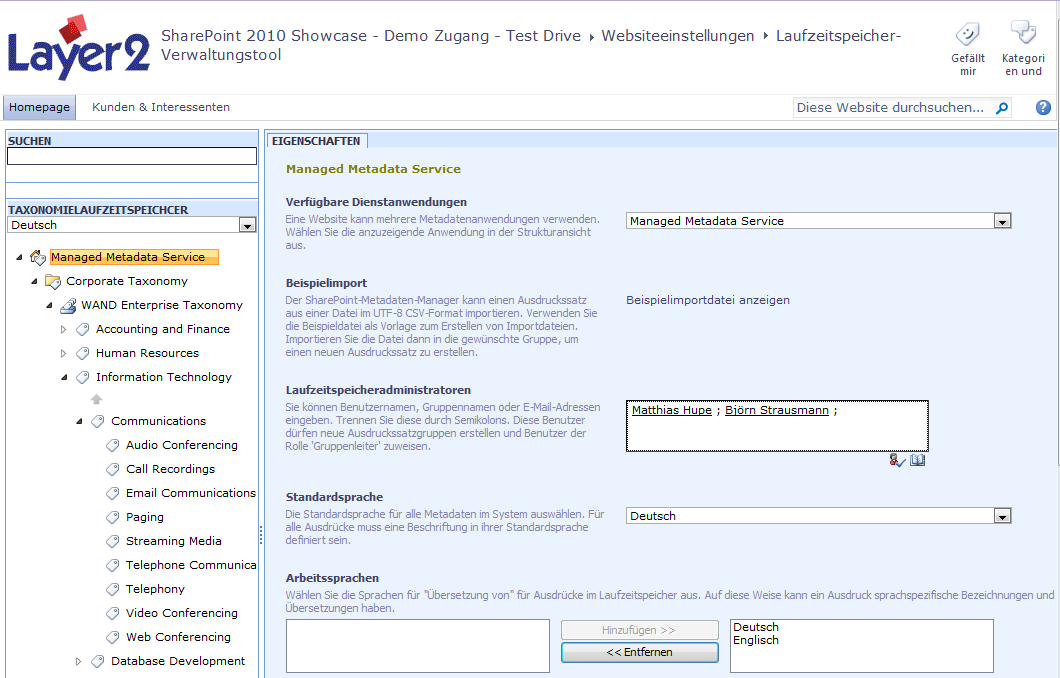 Taxonomien - Term Store Management Nur im SharePoint Server 2010
