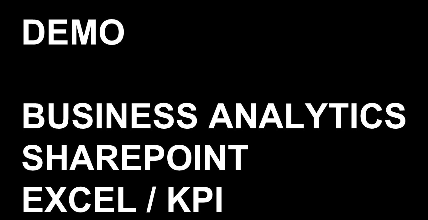 DEMO BUSINESS ANALYTICS SHAREPOINT