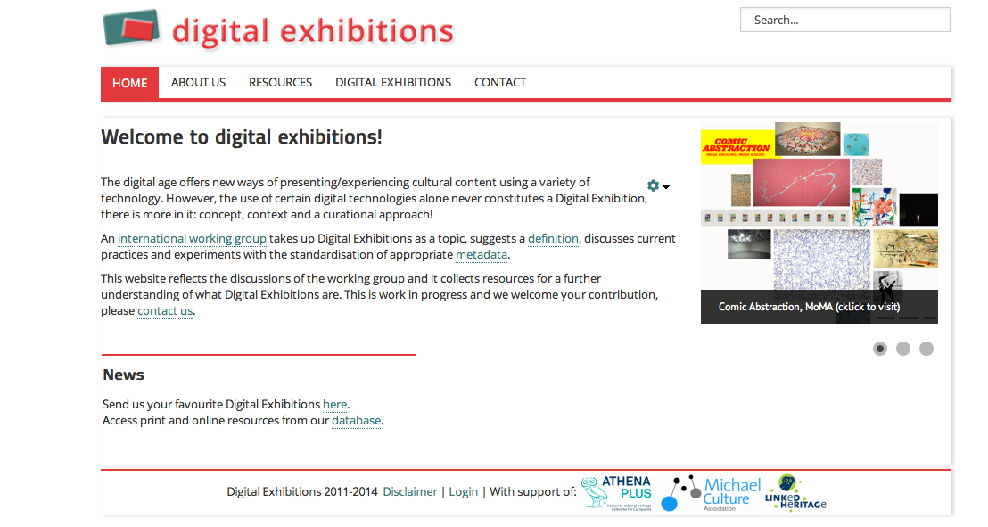 Was sind digitale Ausstellungen? A Digital Exhibition is based on a clear concept and is well curated.
