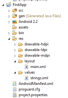 java res drawable res layout