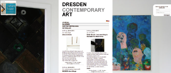 DRESDEN Contemporary Art DCA, Dresden WordPress Template, Mulit-Language Newsletter, User-Roles dresdencontemporaryart.