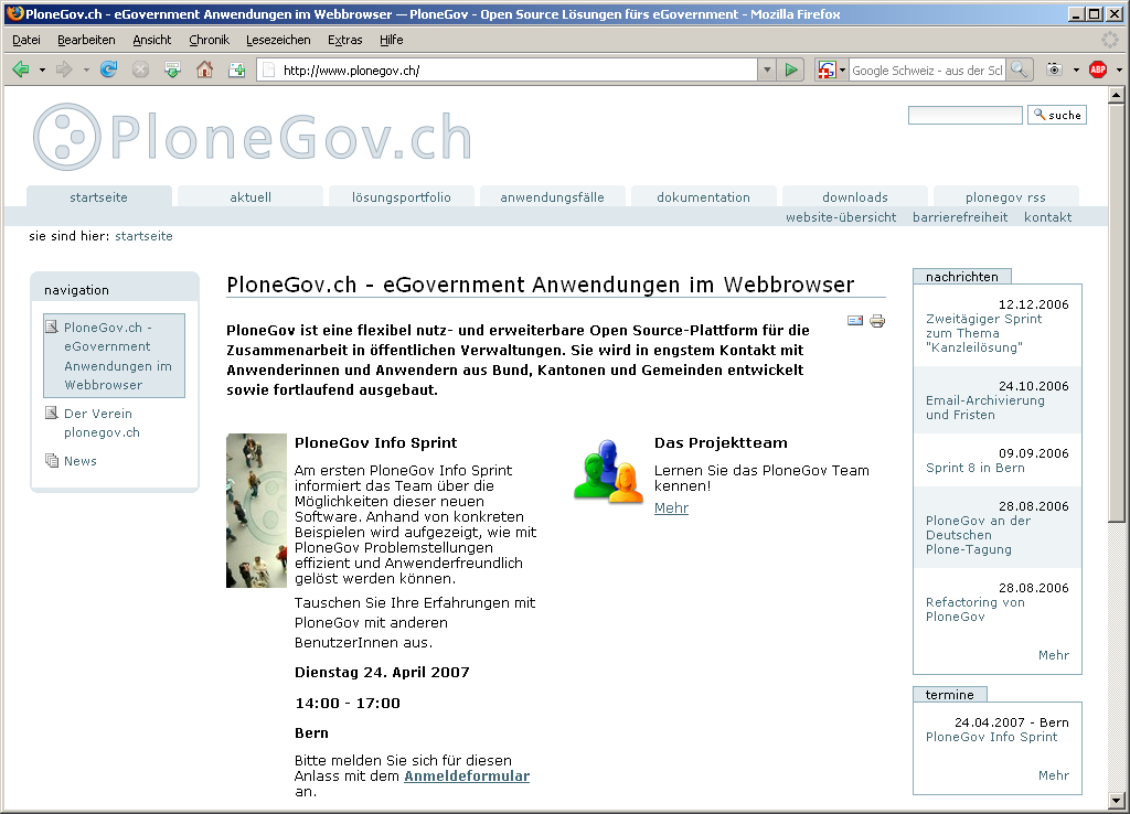 Website www.plonegov.