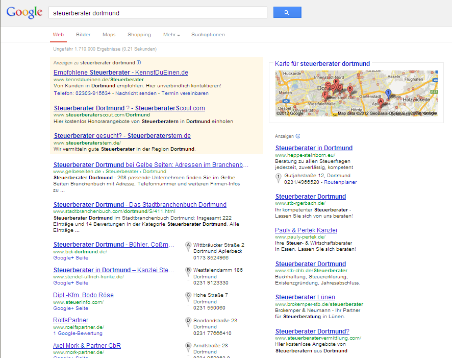 3. Schritte zur Google-Optimierung Keyword Google-Marketing 1.