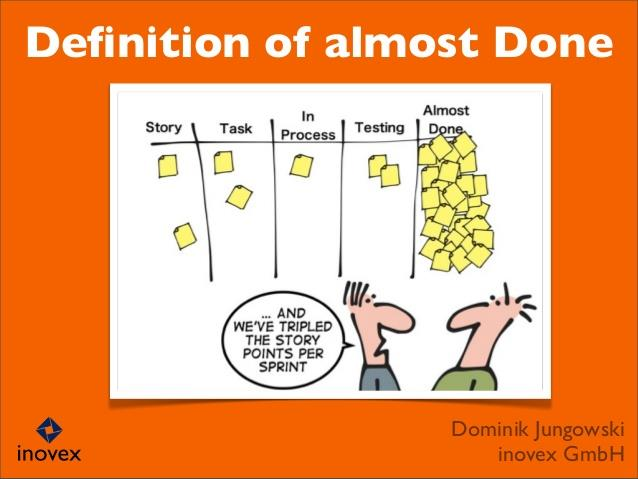 Ablauforganisation: Beispiel Definition of Done Example: Definition of Done (DoD) Implementation is done Developer tests are defined and passed Acceptance