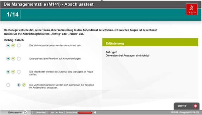Videocasts Screenshot von e-presentations Mobile Learning Virtual