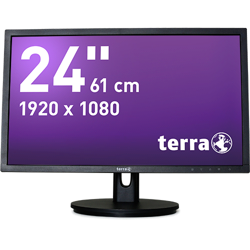 "Datenblatt: TERRA LED 2435W HA schwarz DP+HDMI GREENLINE PLUS 24"" Display 16:9 + Höhenverstellung f."